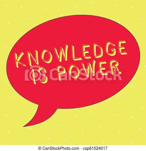 Word writing text knowledge is power business concept for skills
