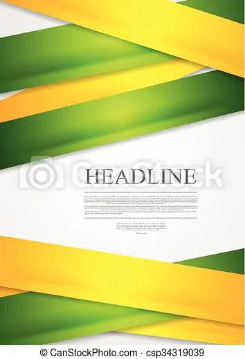 Yellow and green stripes abstract vector background Yellow and