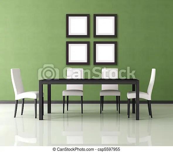 Stockbilder Von Essen, Modernes Zimmer   Grün, Modern, Leerer