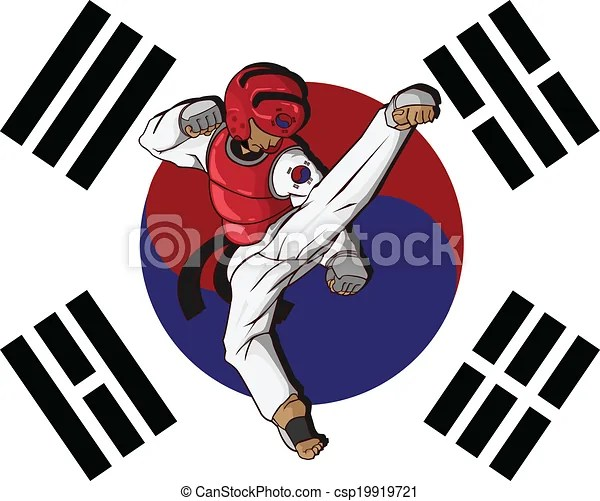 Korean Girl Cartoon Wallpaper Ilustraciones De Vectores De Marcial Taekwondo Arte