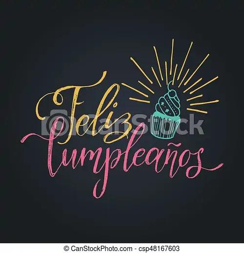 Letras, vector, festivo, feliz, cumpleanos, saludo, ilustración