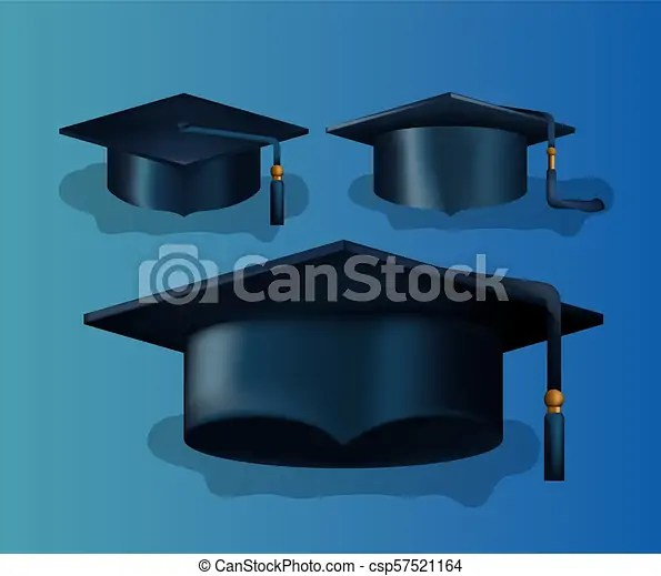 Sombreros, conjunto, graduación, tarjeta Conjunto, sombreros