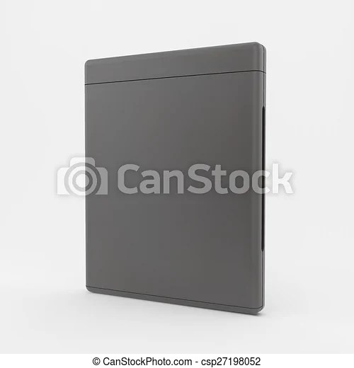 Blank dvd-case or cd-case 3d vector illustration can be used for