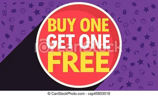Buy one get one free discount voucher vector design template - discount voucher design