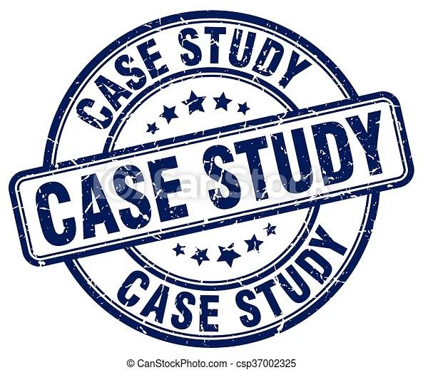 Case study blue grunge round vintage rubber stamp vector - studyblue