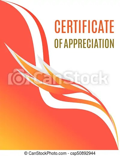 Certificate of appreciation design composition with smooth eps