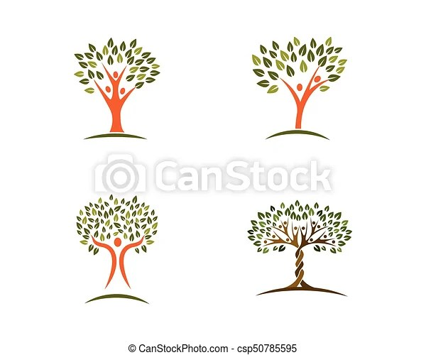 Family tree logo design template Family tree symbol icon eps