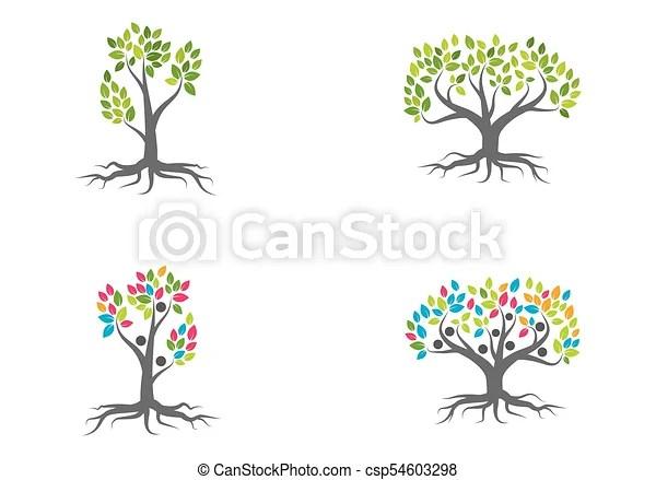 Family tree logo vector template eps vectors - Search Clip Art