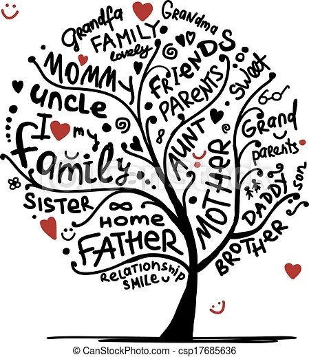 Family tree sketch for your design vectors - Search Clip Art