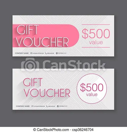Gift voucher template with colorful pattern, gift vector clipart - coupon voucher template