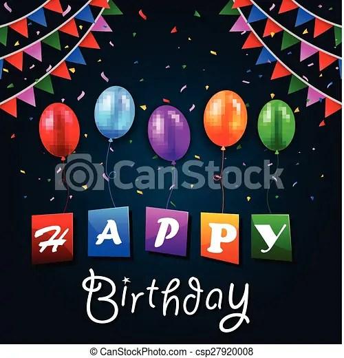 Vector illustration of happy birthday background vector clipart - birthday backround