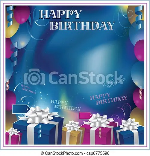 Simple Birthday Invitation Card Background Design