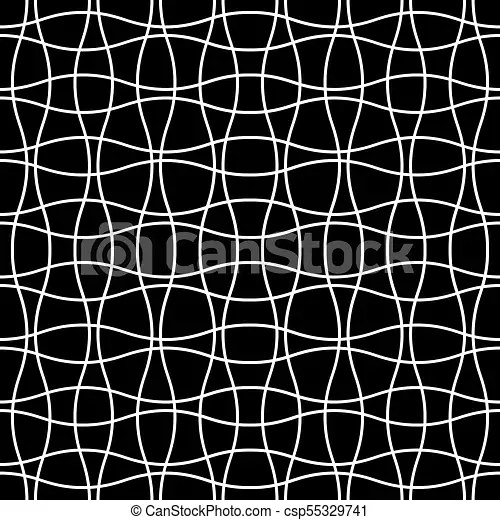 Seamless wave crossing weave pattern abstract geometric grid mesh