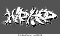 Anca, urbano, illustrazione, vettore, graffito, luppolo.