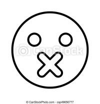 Emoticon, colorare, nero, silenzio, icona. Emoticon ...