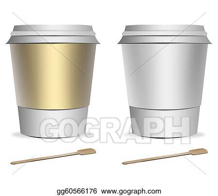Stock Illustration - 2 plastic coffee cup templates Stock Art