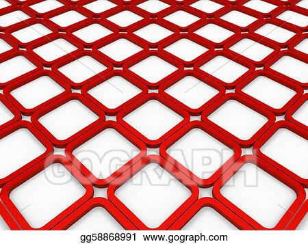 Stock Illustration - 3d cube red square background Clipart
