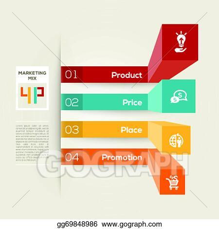 Vector Art - 4p business marketing concept illustration Clipart