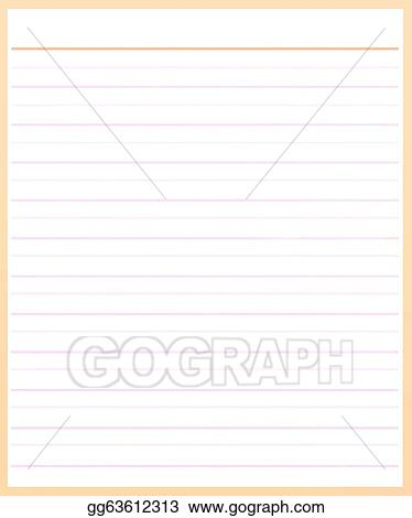 Stock Illustration - A sheet of brown color lined paper  Clipart - color lined paper