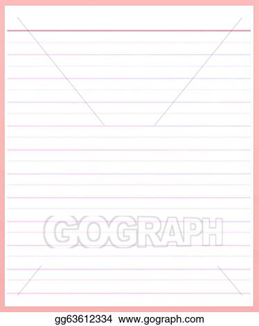 Stock Illustration - A sheet of pink color lined paper  Clipart - color lined paper