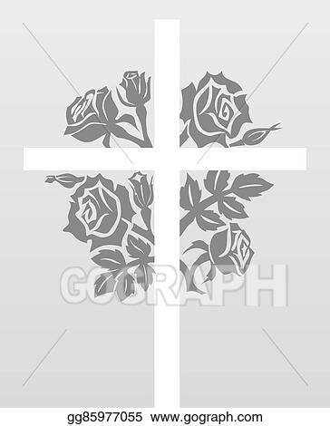 Stock Illustration - Abstract condolence template Clipart