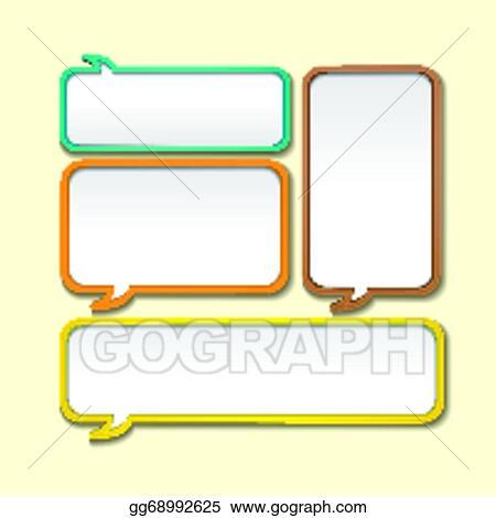Clip Art Vector - Abstract speech bubble design Stock EPS