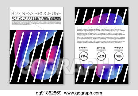 Vector Art - Abstract vector layout background set for art template