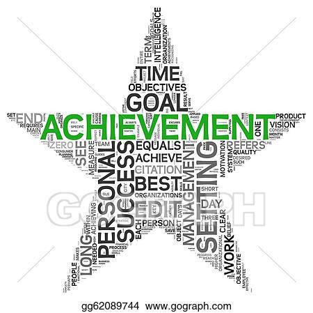 Clip Art - Achievement concept in tag cloud Stock Illustration - words for achievement