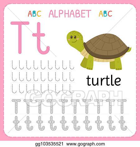 Vector Stock - Alphabet tracing worksheet for preschool and