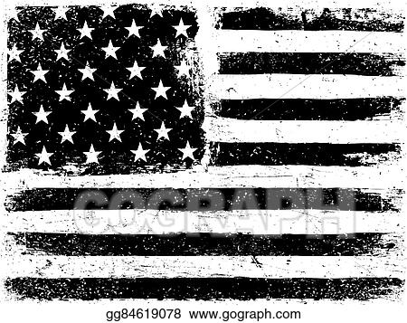 Vector Art - American flag background grunge aged vector template