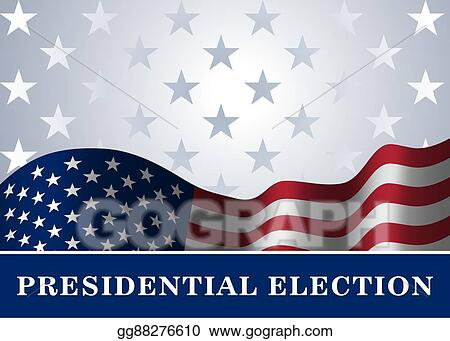 Vector Stock - American flag background presidential election Stock