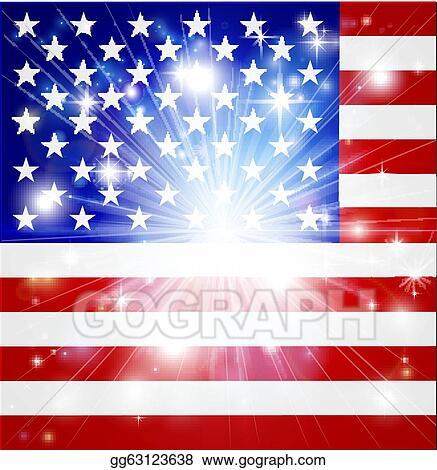 Vector Stock - American flag background Stock Clip Art gg63123638