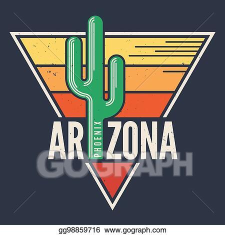 Vector Clipart - Arizona t-shirt design, print, typography, label