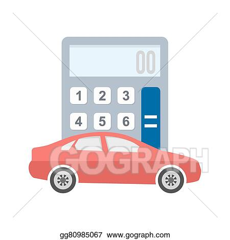 Vector Illustration - Auto loan calculator EPS Clipart gg80985067