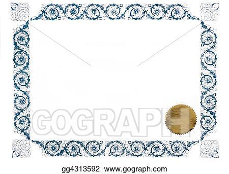 Clipart - Award certificate Stock Illustration gg4313592 - GoGraph