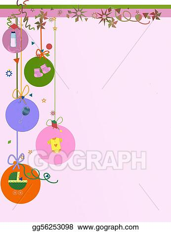Stock Illustration - Baby announcement background Stock Art