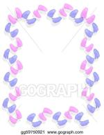 Pink Baby Border Clip Art