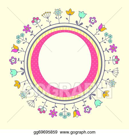 Vector Art - Baby shower card template EPS clipart gg69695859 - GoGraph