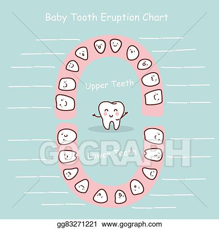 Clip Art Vector - Baby tooth chart record Stock EPS gg83271221