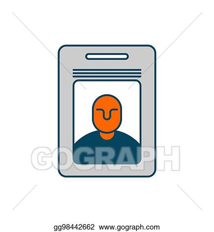 Vector Illustration - Badge isolated pass an employee on white