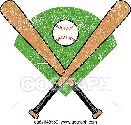 Vector Art - Baseball bat vector Clipart Drawing gg87648559 - GoGraph