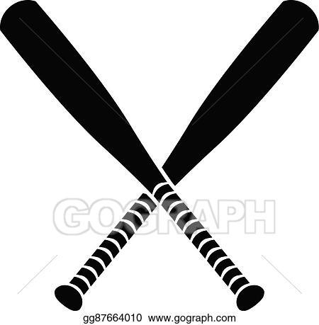 Vector Art - Baseball bat vector Clipart Drawing gg87664010 - GoGraph