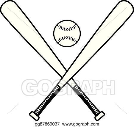 Vector Art - Baseball bat vector Clipart Drawing gg87869037 - GoGraph