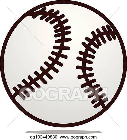 EPS Vector - Baseball logo design template vector Stock Clipart