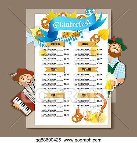 Vector Illustration - Beer restaurant brochure vector, alcohol menu