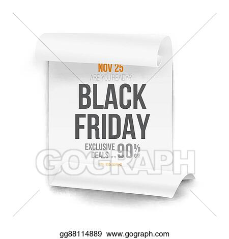 Vector Stock - Black friday sale curved ribbon banner template