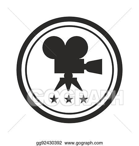 Vector Clipart - Black round film award Vector Illustration