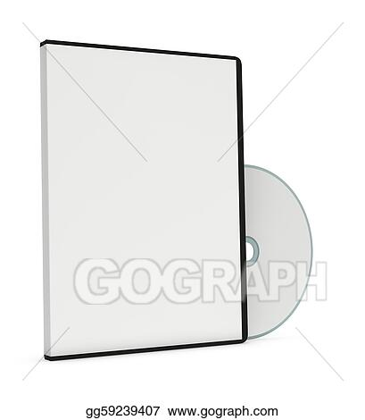 Stock Illustration - Blank cd or dvd jewel case Clipart Drawing