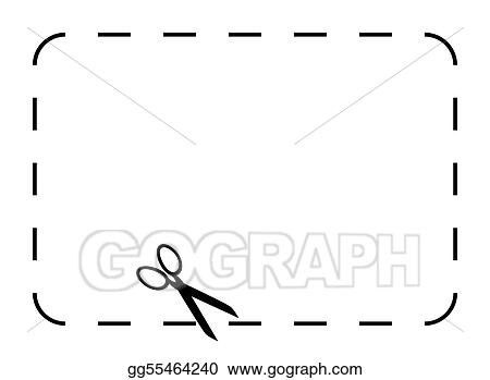 Drawing - Blank coupon or voucher Clipart Drawing gg55464240 - GoGraph - blank voucher