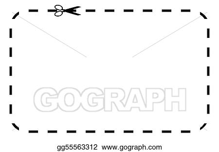Drawing - Blank coupon or voucher Clipart Drawing gg55563312 - GoGraph - blank voucher